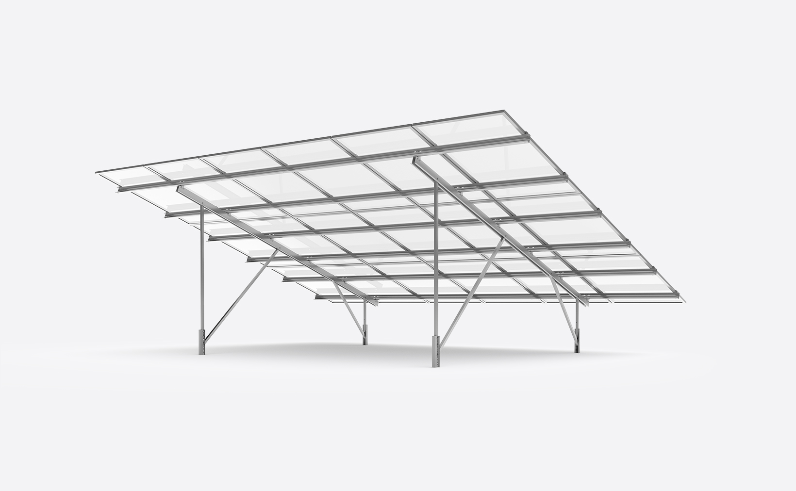 Sigma II ground mount system for solar plants