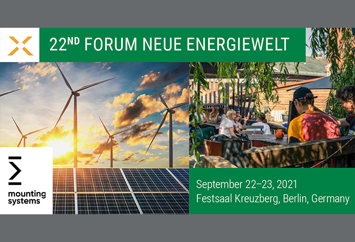 Mounting Systems at the Forum Neue Energiewelt on 22 and 23 September in Berlin, Kreuzberg